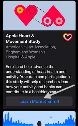 Enroll in Apple heart and movement study