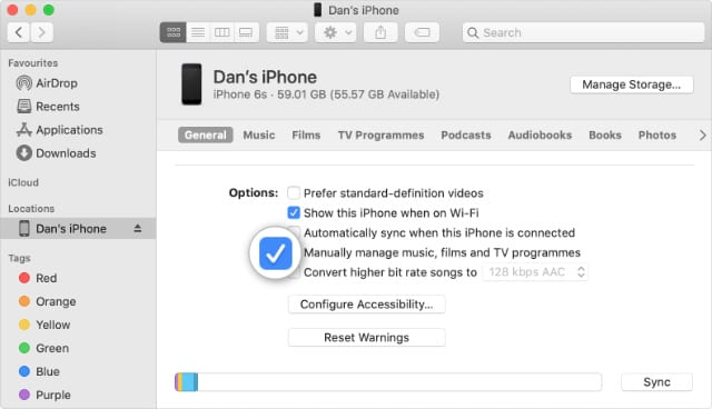 How to Manually Manage Music on Your iPhone in macOS Catalina