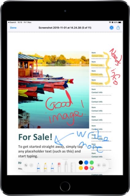 Markup on PDF in Files app