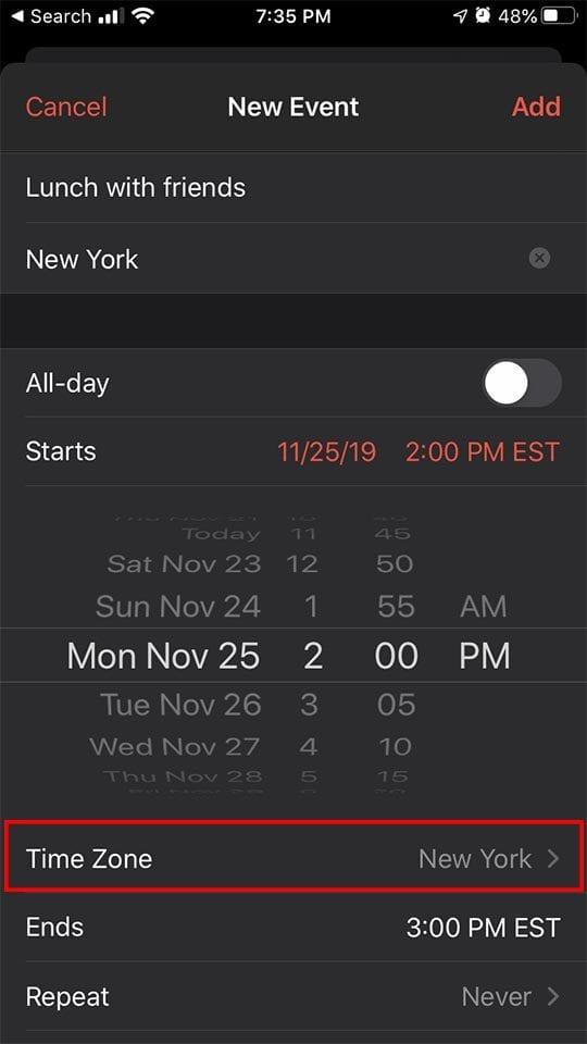 Time Zone Calendar - iCal