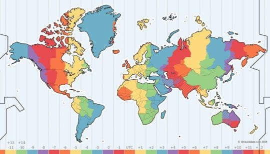 Time Zones Calendar