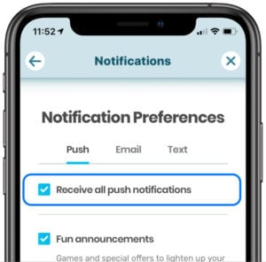 Waze Receive all push notifications setting