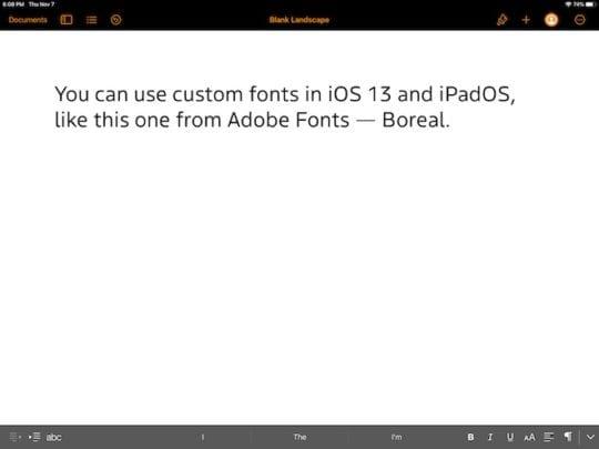 iPadOS Custom Fonts