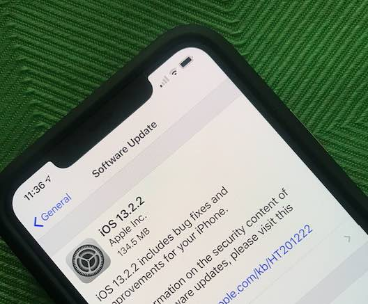 iOS 13.2.2 update released
