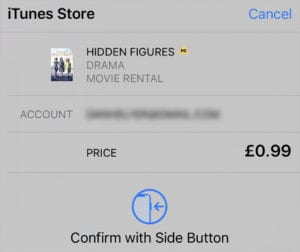 iTunes Store purchase window
