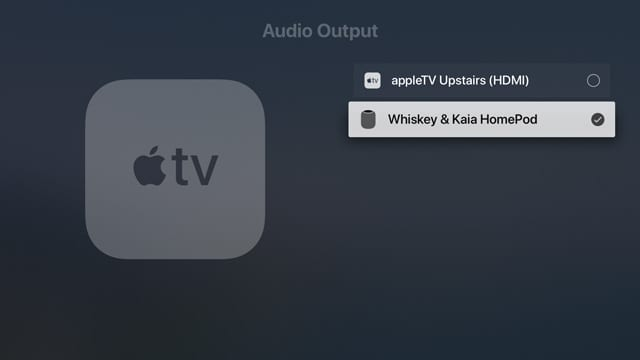 HomePod as audio output on Apple TV