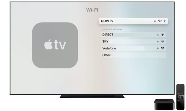 Apple TV Wi-Fi setting