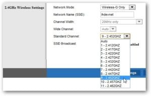 Change Router Channel