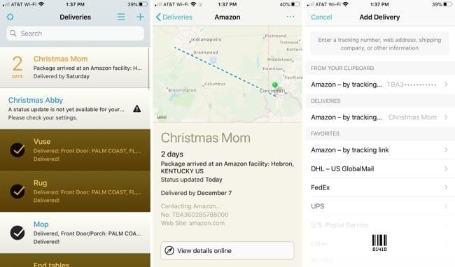 Deliveries iPhone