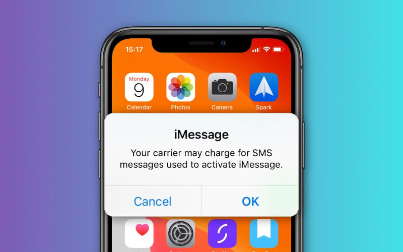 Keep Getting Messages That Your Carrier May Charge to Activate iMessage?