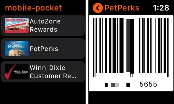 mobile-pocket on Apple Watch