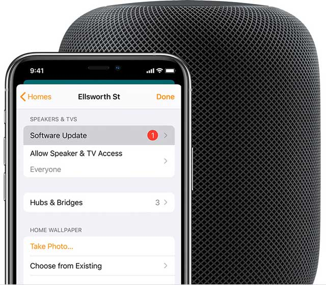 how to update Apple homepod software