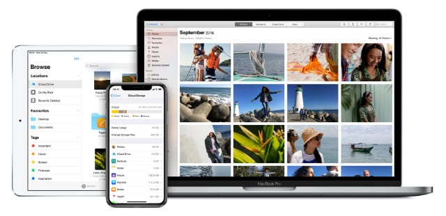 iCloud on iPhone, iPad, and Mac