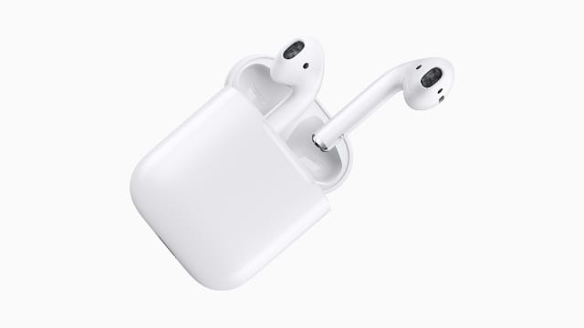 AirPods floating out of charging case