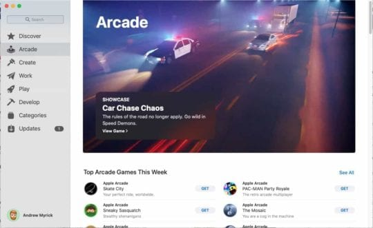Apple Arcade Mac App Store