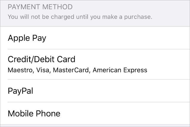 Apple ID payment methods2