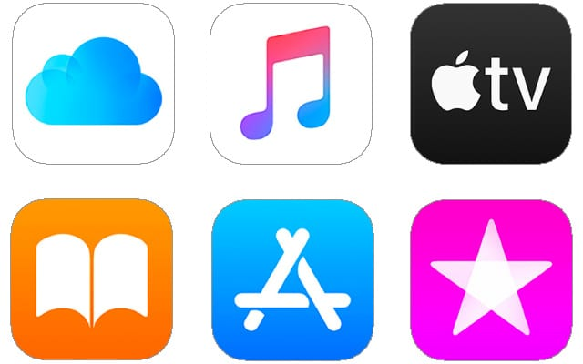 Apple Services logos