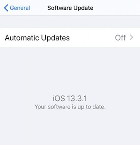 iOS 13.3.1 features