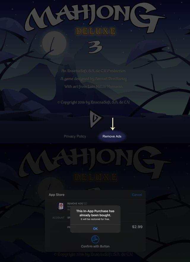 Mahjong Deluxe 3 Go remove ads