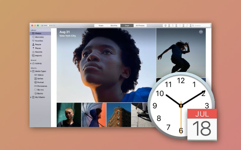 Photos out of order? Change the date and time for photos on a Mac