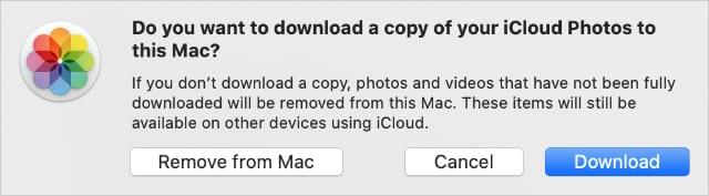 Remove Photos from Mac iCloud Photos Settings