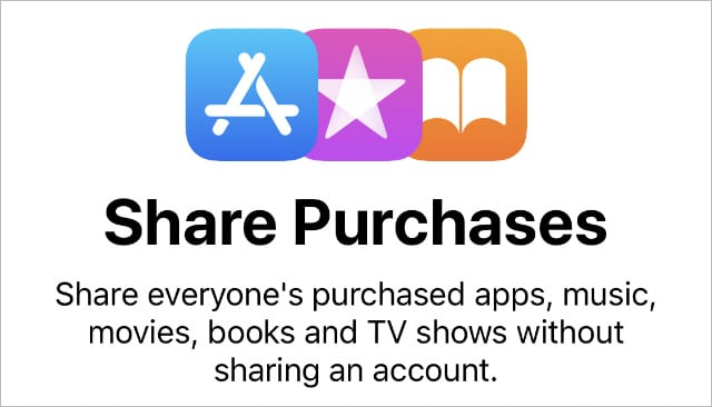 Share Purchases information from iPhone settings
