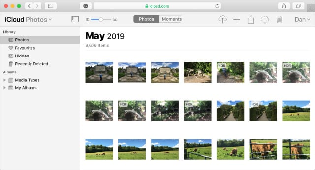iCloud Photos available on Safari