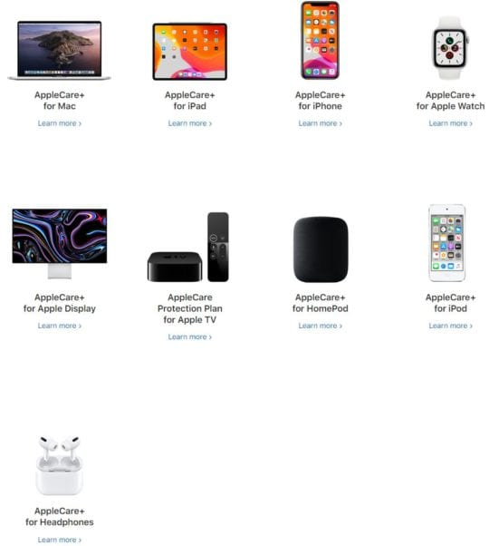 AppleCare Family of Devices