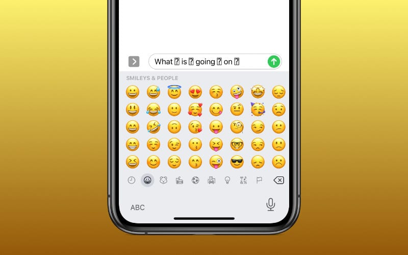 Are Emojis showing up as question marks on your iPhone or iPad?
