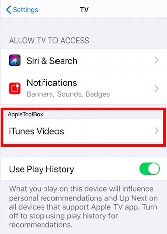 Change Apple TV app Settings for low cellular use