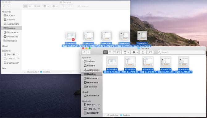 Copying files from iCloud Drive to local Desktop folder