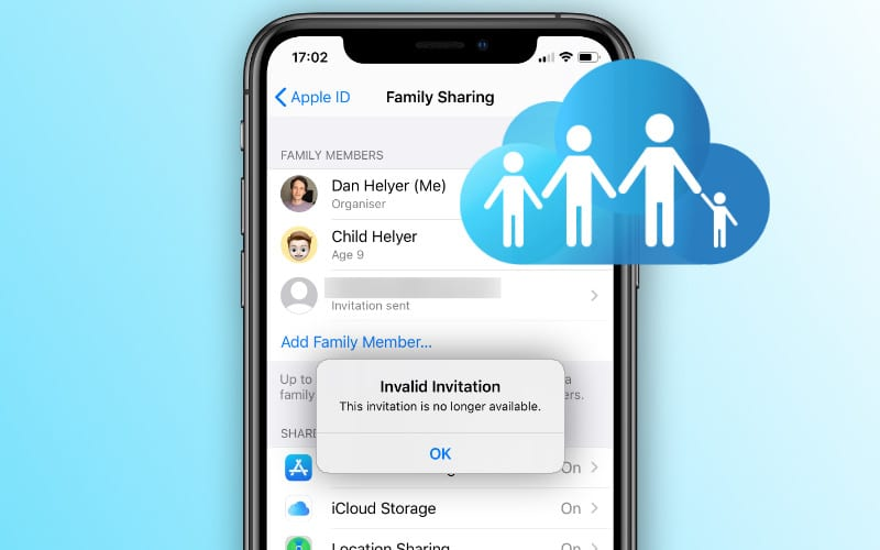 """How to fix the """"Invalid Invitation"""" error in Family Sharing"""