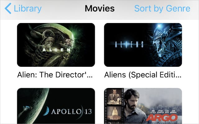 Movies in Apple TV app on iPhone