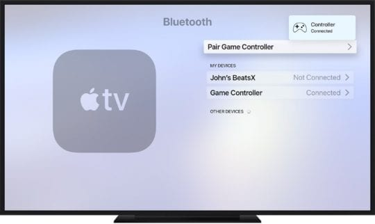 Pair Controllers with Apple TV on tvOS 13