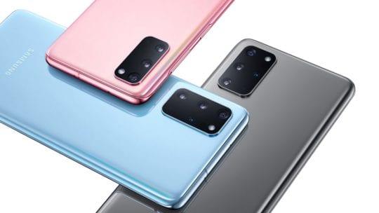 Samsung Galaxy S20 Plus layered