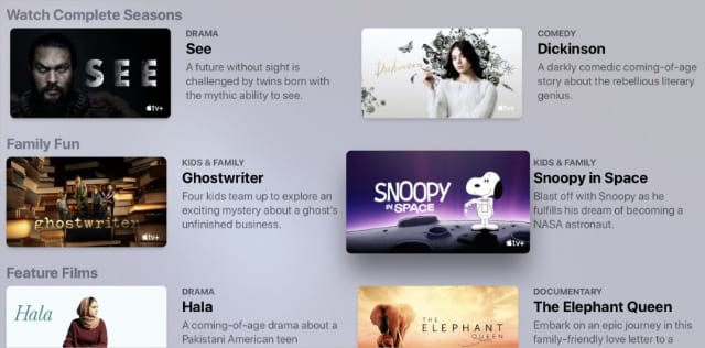 TV shows and movies available on Apple TV+