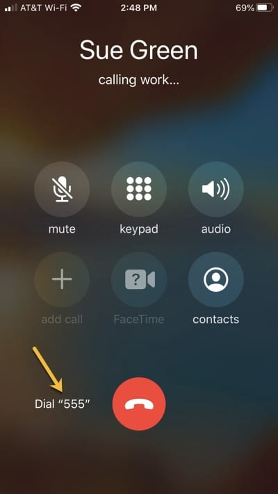 Tap Extension When Calling