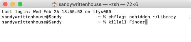 Terminal Unhide Library Folder Mac