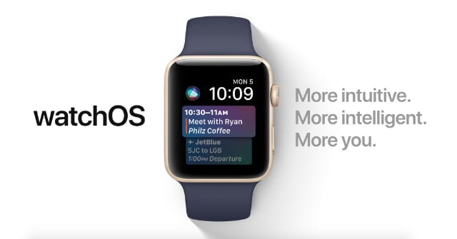 WatchOS graphic with list of improvements