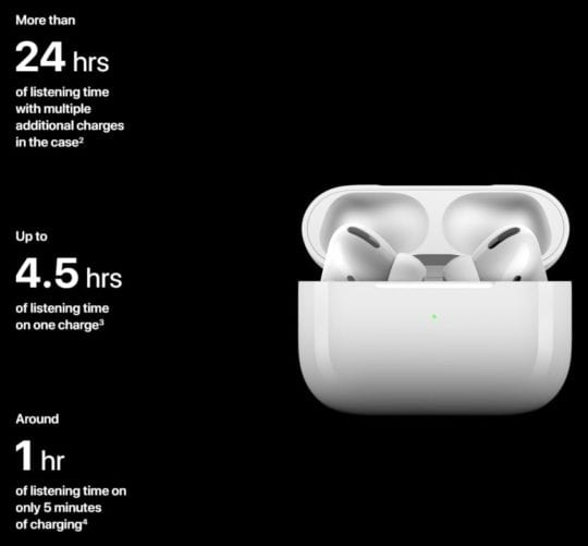 AirPods Pro Battery Life Breakdown