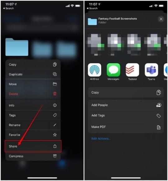 iCloud Folder Sharing iOS 13.4