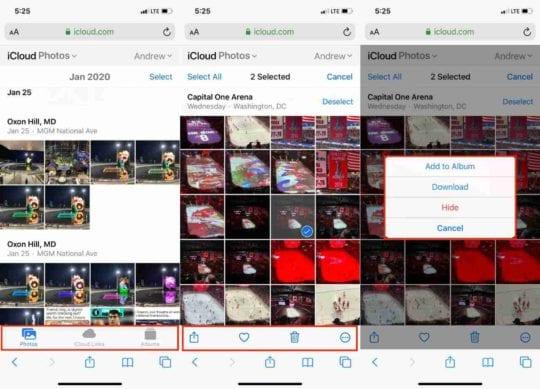 iCloud Web Photos 1