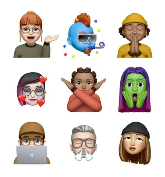 iOS 13.4 New Memoji Stickers