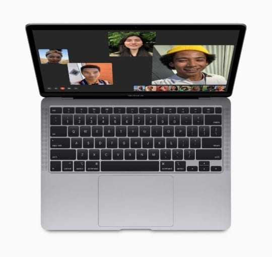 2020 MacBook Air top-down Overview