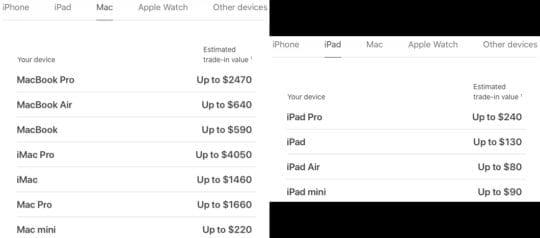 2020 MacBook Air vs iPad Pro Trade-in