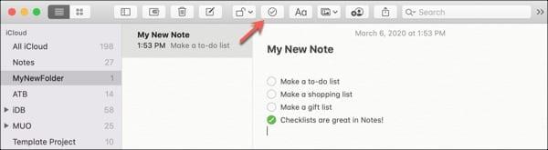Add Checklist Notes-Mac