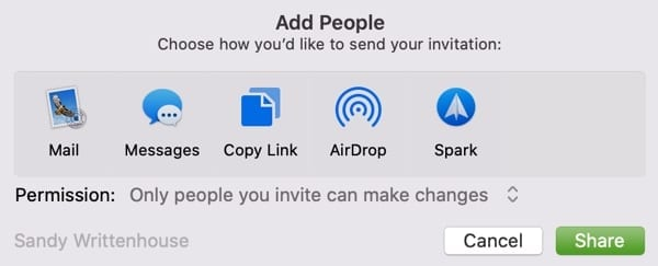 Add People Notes-Mac
