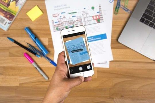 Adobe Scan on iOS