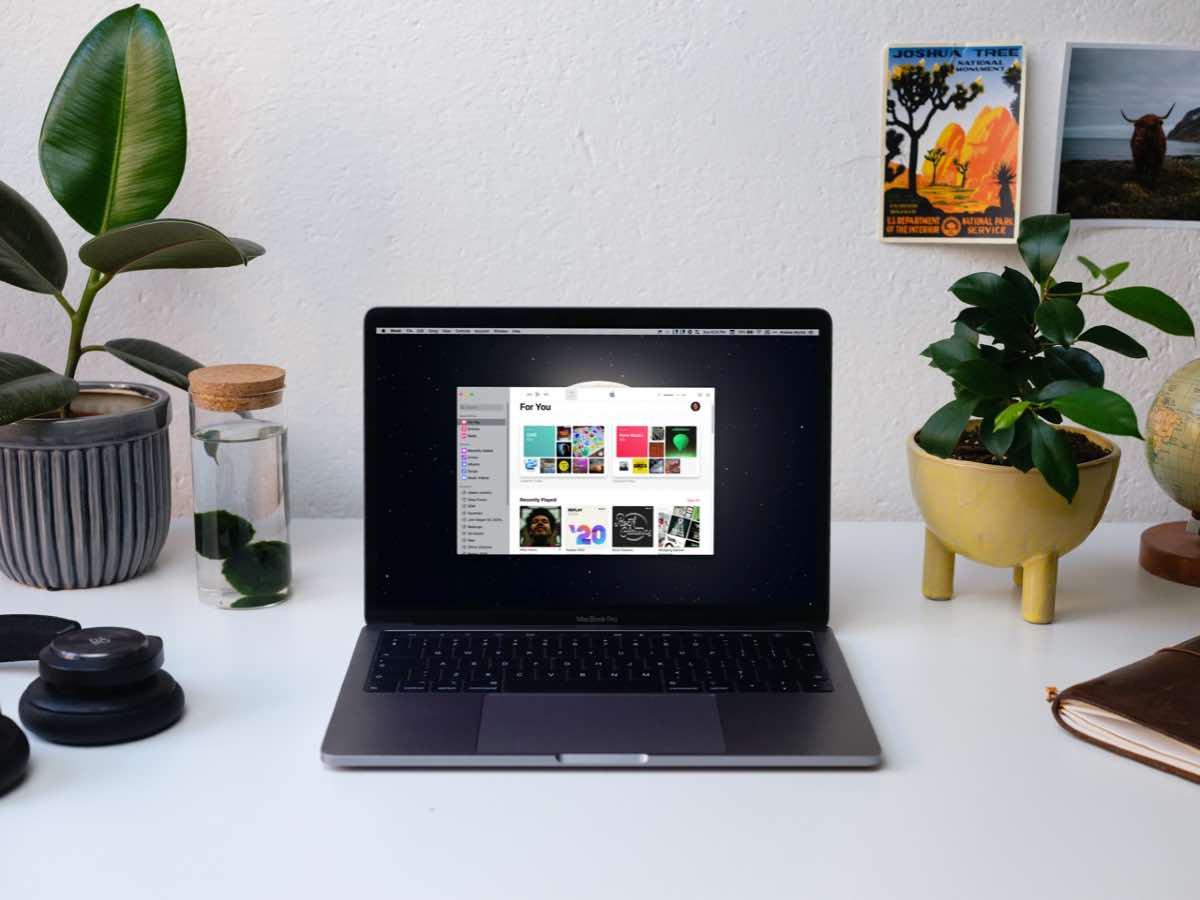 Apple Music on MacBook