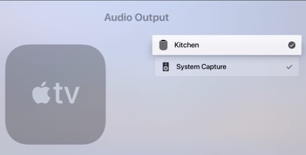 Audio Output HomePod-Apple TV